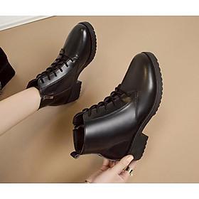 Giày boot đế thô 4 phân cột dây S006
