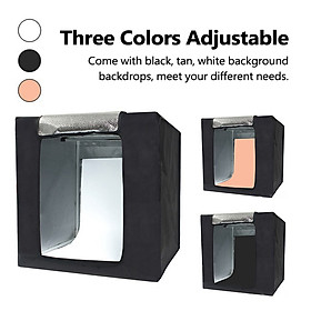 Multifunctional 0.64m LED Light Soft Box Set Portable Photo Lighting Modifier Photography Accessory Softbox with 3