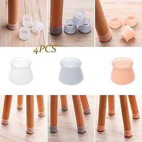 4 Vỏ bọc chân bàn ghế silicon dày hình vuông, miếng silicon dày bọc chân bàn ghế chống trượt