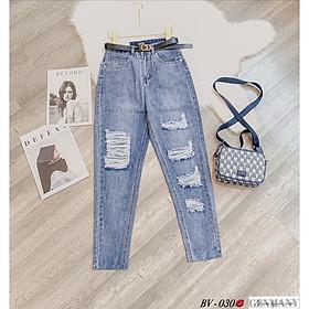 Quần baggy jeans rách. Size S M L