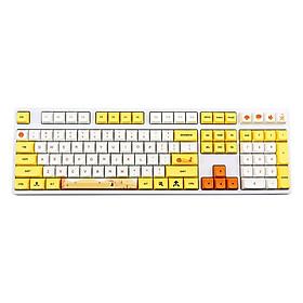 1 Set Of Keyboard Keycaps 129-key Pbt Printing Sublimation Mechanical Keyboard Keycap