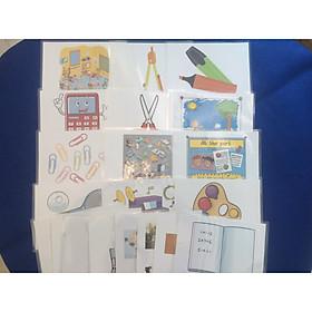 School thing Flashcards (Advanced) - Thẻ học tiếng Anh chủ đề trường học (mức độ khó) - 20 thẻ