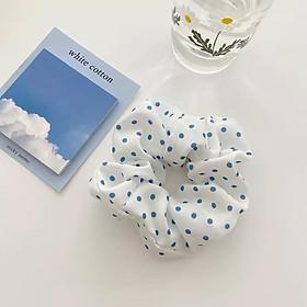 Các mẫu dây buộc tóc - Scrunchies tone xanh siêu dễ thương HD64