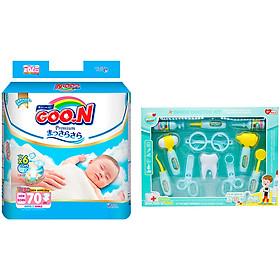 Tã Dán Goo.n Premium Gói Cực Đại Newborn NB70 (70 Miếng) - Tặng Bộ đồ chơi bác sĩ