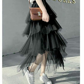 Chân váy xòe dài lưới dài 4 tầng xinh xắn
