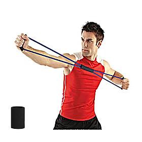 Dây cao su đàn hồi hỗ trợ các động tác tập yoga, gym, dụng cụ tập thể hình đa năng (tặng băng tay thấm mồ hôi) màu ngẫu nhiên