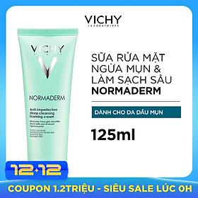 Sữa Rửa Mặt Tạo Bọt Ngăn Ngừa Mụn Và Se Lỗ Chân Lông - Normaderm Anti-perfection Deep Cleansing Foaming Cream Vichy 125ml - 100873890