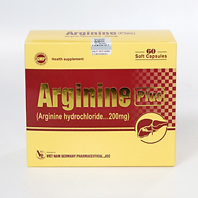 Thực phẩm bảo vệ sức khoẻ Arginine Plus giúp bổ gan, giải độc gan, bảo vệ tế bào gan - Hộp 60 viên