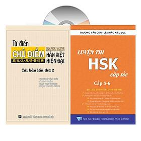 Combo 2 sách: Từ điển chủ điểm Hán Việt chuyên nghành + Luyện thi HSK cấp tốc tập 3 - Cấp 5+6 (kèm CD) +DVD