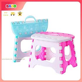 Ghế Nhựa Xếp Gấp Gọn Tiện Lợi Nhà Tắm BABO Có Tay Cầm Di Động Kích Thước 25 x 19 cm