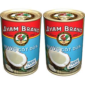 Nước Cốt Dừa Ayam Brand Lốc 2 Lon (400ml X 2)