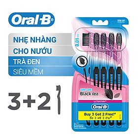Vỉ 5 Bàn Chải Oral-B Tinh Chất Trà Đen (3 Cây Tặng 2)