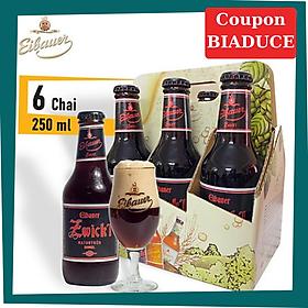 Combo Lốc 6 Chai Bia Đức Thầy Tu EIBAUER ZWICK'L DUNKEL 250ml/chai
