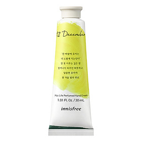 Kem Dưỡng Da Tay Innisfree Jeju Life Perfumed Hand Cream Tháng 12 - Hương Yuja Tea 30ml - 131170736