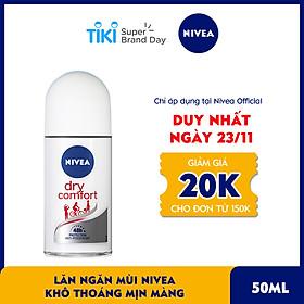 Lăn Ngăn Mùi NIVEA Khô Thoáng Mịn Màng (50ml) - 81611