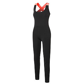 Women Yoga Jumpsuit Quick Dry Backless Stretchable Breathable One-Piece Sports Pants Workout Fitness Gym Sportswear