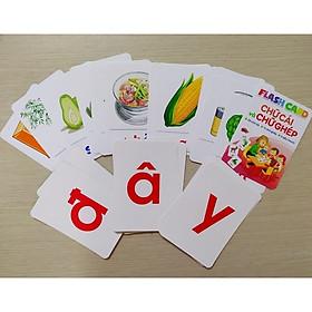Bộ 42 Thẻ Học Flash Card Chữ Cái Và Chữ Ghép Cho Bé