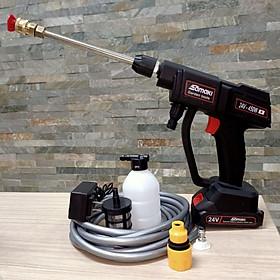 máy phun xịt tưới cây phun thu-ố-c bằng pin 24v samaki