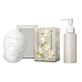 Combo Hộp 10 Miếng Mặt Nạ Naruko Bạch Ngọc Lan Đài Loan Taiwan Magnolia Mask (25ml/Miếng) + Sữa Dưỡng Trắng Da Naruko Bạch Ngọc Lan Đài Loan Taiwan Magnolia Lotion (120ml)