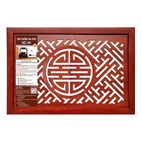 Tấm chống ám khói Mộc Linh 41x61 chữ Thọ màu Nâu
