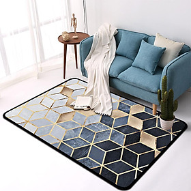 Nordic Style Fashion Geometric Cube Pattern Carpet for Livingroom Table Bedside