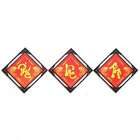 Tranh Đính đá Phúc - Lộc - Thọ