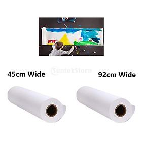 2 Pieces 10m White 45cm 92cm Wide Drawing Paper Roll for Kids Children