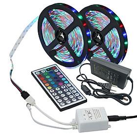 Combo 10M Dây Đèn LED Trang Trí RGB Kèm Nguồn và Remote