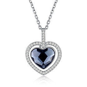 Christmas Collection Fashion Zircon Necklace White/Platinum Plated