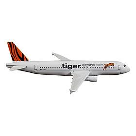 Mô Hình Máy Bay Trưng Bày Airbus A320 Tiger Airlines Everfly (Trắng Cam)