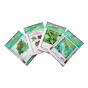 Combo Hạt Giống 4 Loại Rau: Tần Ô, Rau Đay, Mồng Tơi, Rau Dền Phú Nông (100g)