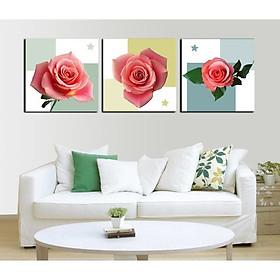 Tranh Canvas treo tường nghệ thuật | Bộ 3 bức vuông| HLB_120