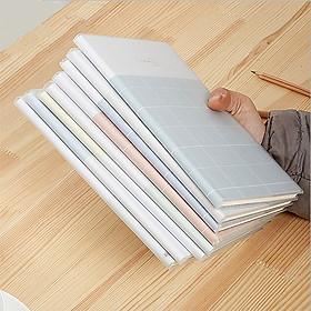 Sổ vở kẻ ngang họa tiết lưới vuông bọc bìa trong 144 trang A5 14x20,5cm - 1 mẫu - màu ngẫu nhiên