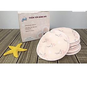 Lót thấm sữa bằng vải giặt được Goodmama ( hộp 8 miếng)