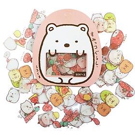 50 Miếng Sticker trang trí Kawaii ( Tặng Kèm Giấy Note Molang)
