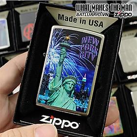 Bật Lửa Zippo 205 Statue Liberty Skyline Fire
