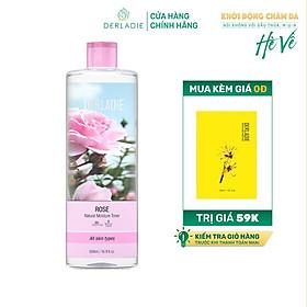 Nước Hoa Hồng Cấp Ẩm Derladie Rose Natural Moisture Toner 500ml