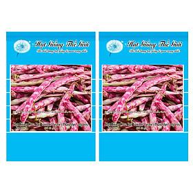 Bộ 2 Gói Hạt Giống Đậu Cove - Bụi Vân Đỏ Taylor (Phaseolus vulgaris) 3g