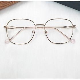 Kính bảo vệ mắt chống ánh sáng xanh gọng kim loại KAVI132 màu hồng