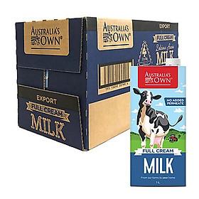 Thùng 12 Hộp Australia's Own Sữa Tươi Úc Nguyên Kem 1L