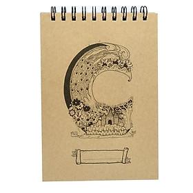 Sổ Sketchbook Alphabet - Hình Chữ C