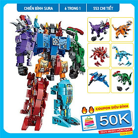 Đồ chơi lắp ráp trẻ em bằng nhựa ABS an toàn -Robot Chiến Binh Sura 553 Chi tiết - LEGO STYLE