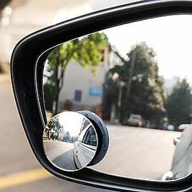 Bộ 2 Gương Lồi Xoay 360 độ Gắn Cho Kính Gương Chiếu Hậu Tránh Điểm Mù Cho Xe Hơi, Xe Ô tô - CAR27