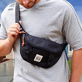 Túi đeo chéo trước ngực unisex nam nữ Z_TDC_ADIDA màu đen, túi bao tử phong cách thời trang hàn quốc cực xinh đựng điện thoại và phụ kiện cá nhân  khi đeo đi dạo phố dự tiệc
