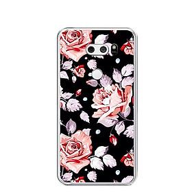 Ốp lưng dẻo cho điện thoại LG V30 - 0200 ROSE02 - Hàng Chính Hãng