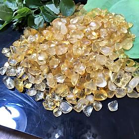 Đá Vụn Thạch Anh Vàng B - 1kg