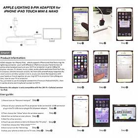 Bộ Chuyển Đổi Cáp 8 Chân Lightning sang HDMI HDTV Cho iPhone 6 6s Plus 5 5s
