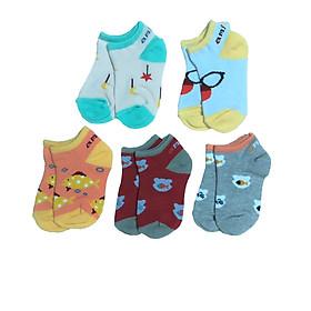 Combo 5 đôi tất cotton AMIGO cho bé trai, bé gái size 3 tháng đến 8 tuổi, tất mềm, mịn co giãn tốt, hàng Việt Nam chất lượng