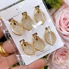 Đôi Bông Tai Nữ ( 01 đôi ) Mạ Vàng 18K 047.2704 - Tăng Kèm Hộp Trang Sức