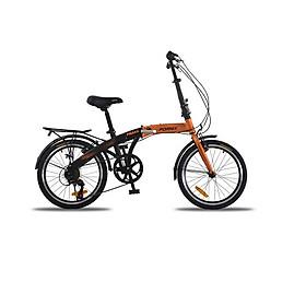 Xe đạp gấp, hiệu Fornix Prava, màu đen cam